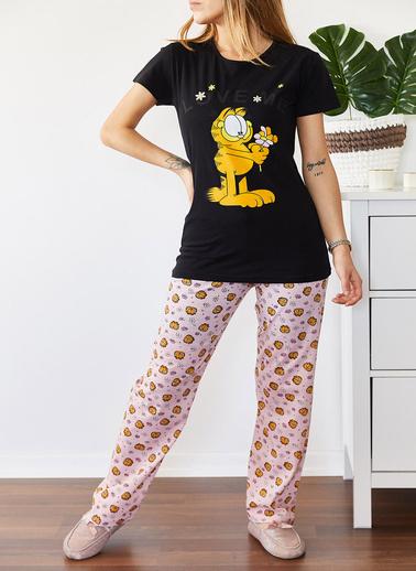 XHAN Baskılı Pijama Takımı 0Yxk8-43676-50 Siyah